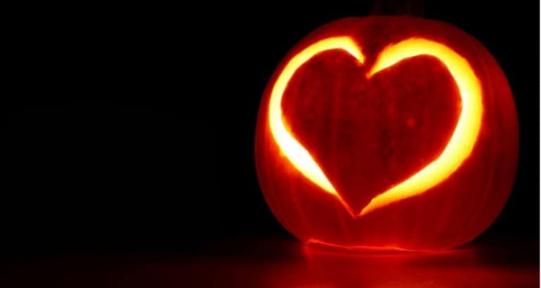 Carve Heart in Pumpkin Brightlines