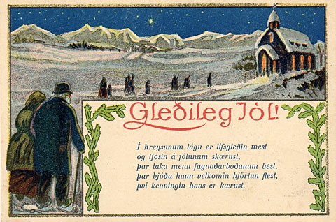12 christmas card designs from around the world brightlines happy christmas in icelandic gleileg jl m4hsunfo