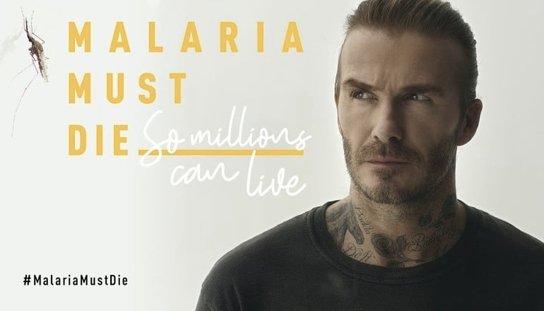 malaria must die - david beckham