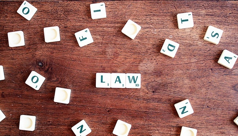 Scrabble with the word law